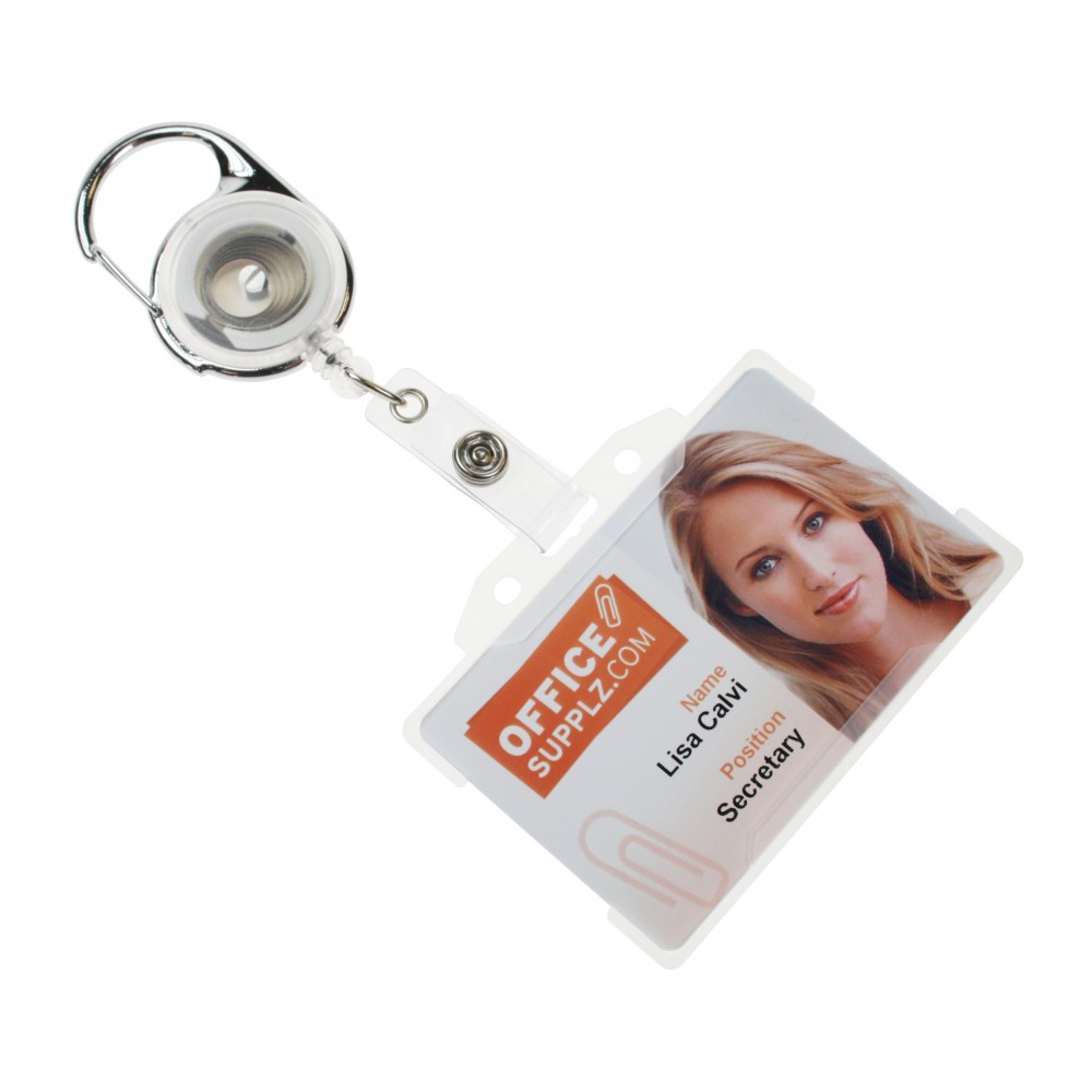 Premier Badge Reel - Clear (With Badge)