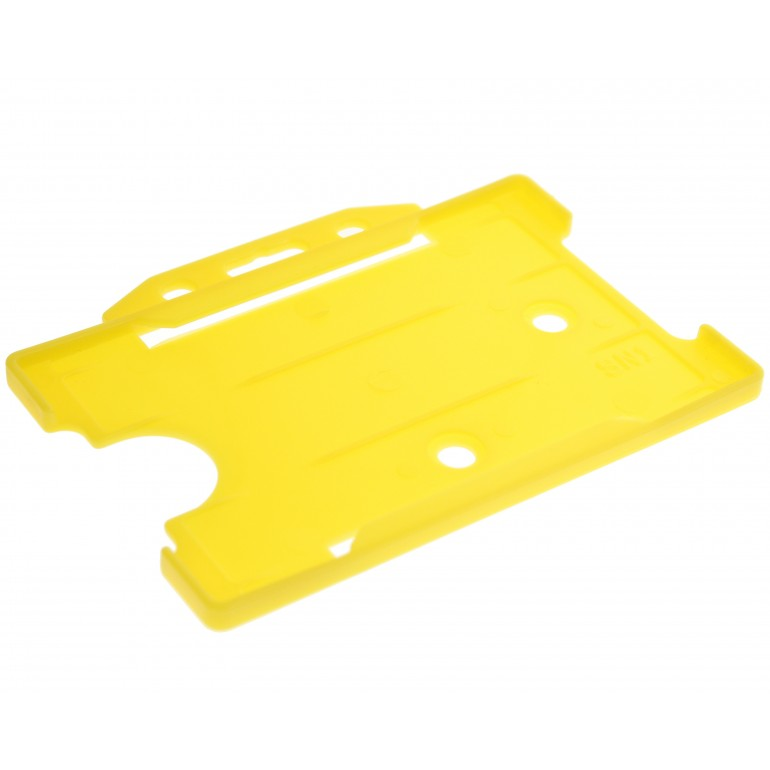 Open Faced Horizontal Badge Holders - Yellow - 100 Pack