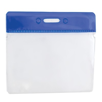 Clear Flexible Wallet - Horizontal - Blue Top - Pack of 100