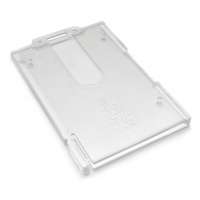 Badge Buddy - Enclosed Vertical Badge Holder - Clear - 100 Pack