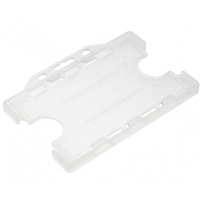 Double Sided Open Faced Horizontal Badge Holders - Clear - 100 Pack