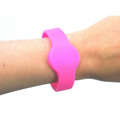 Medium Silicone Pink Wristband - NXP MIFARE® Ultralight EV1