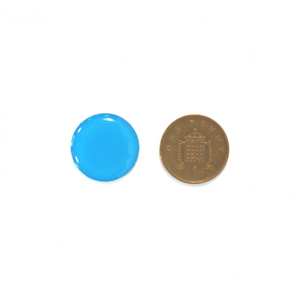 blue tag with coin
