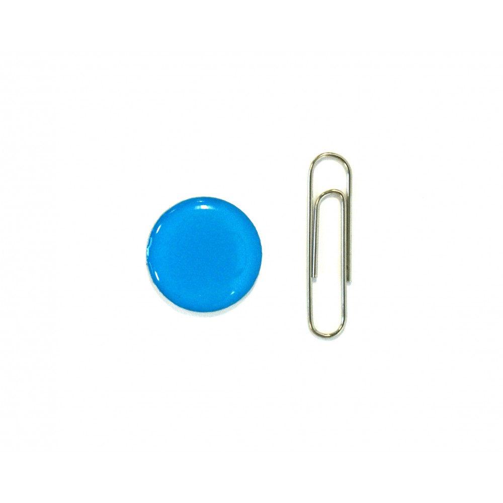 blue tag with paperclip