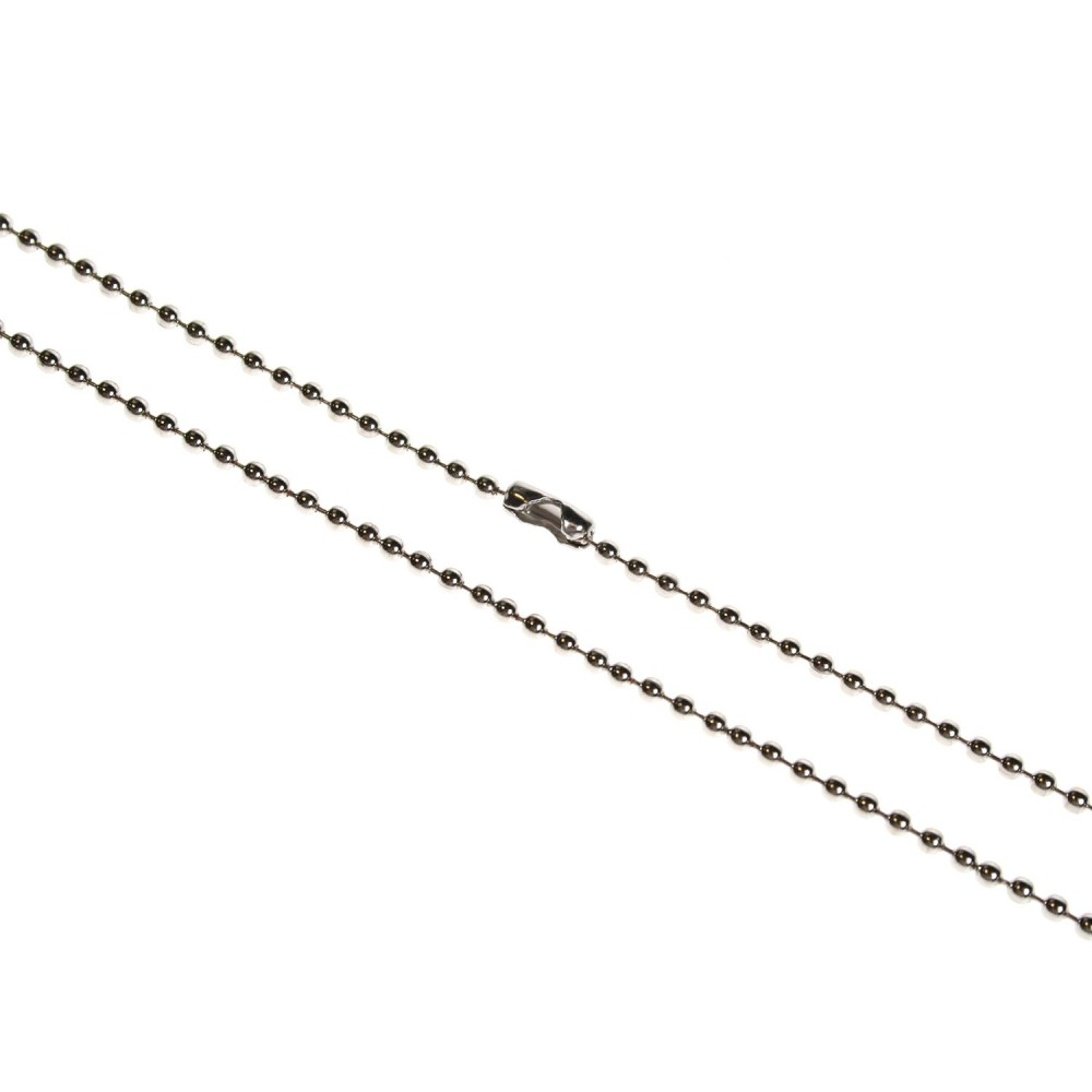 "Metal Chain Necklace - 36"" Steel - 100 Pack"
