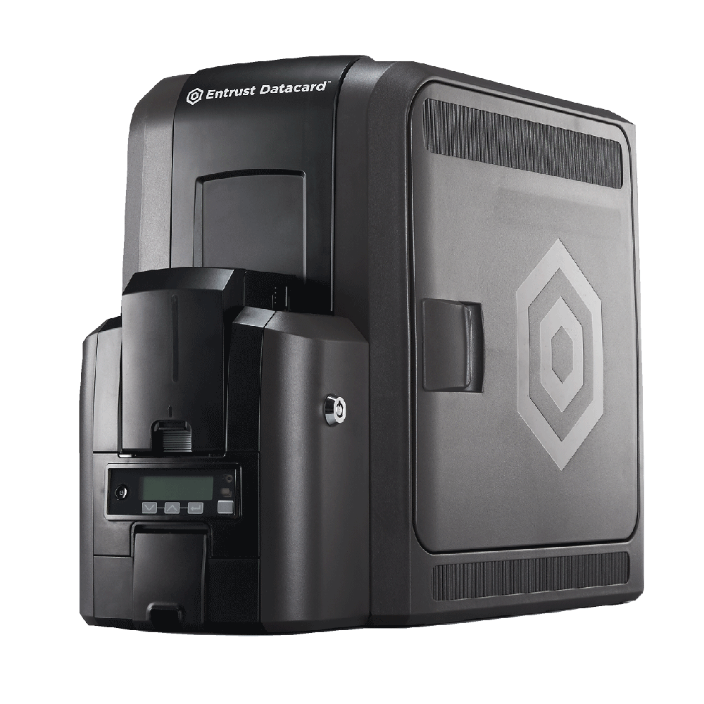 Datacard® CR805 Single Sided Printer - Side Angle