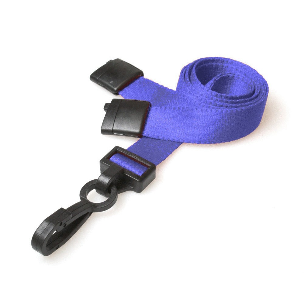 Deluxe Breakaway Safety Lanyards - Royal Blue - 100 Pack