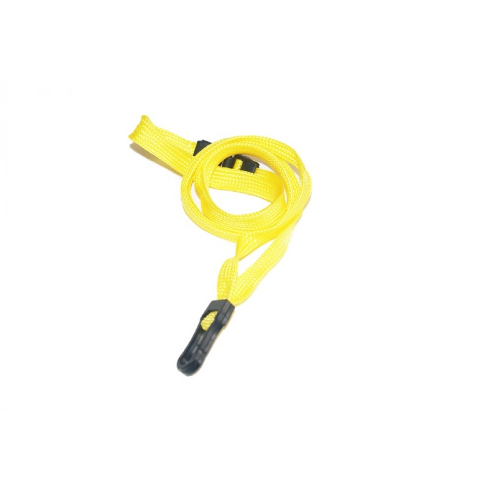 Essential Breakaway Lanyards with Plastic Clip – Yellow