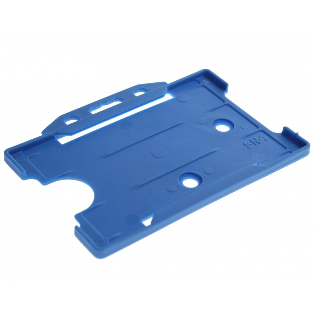 Open Faced Badge Holders - Blue - Horizontal - 100 Pack