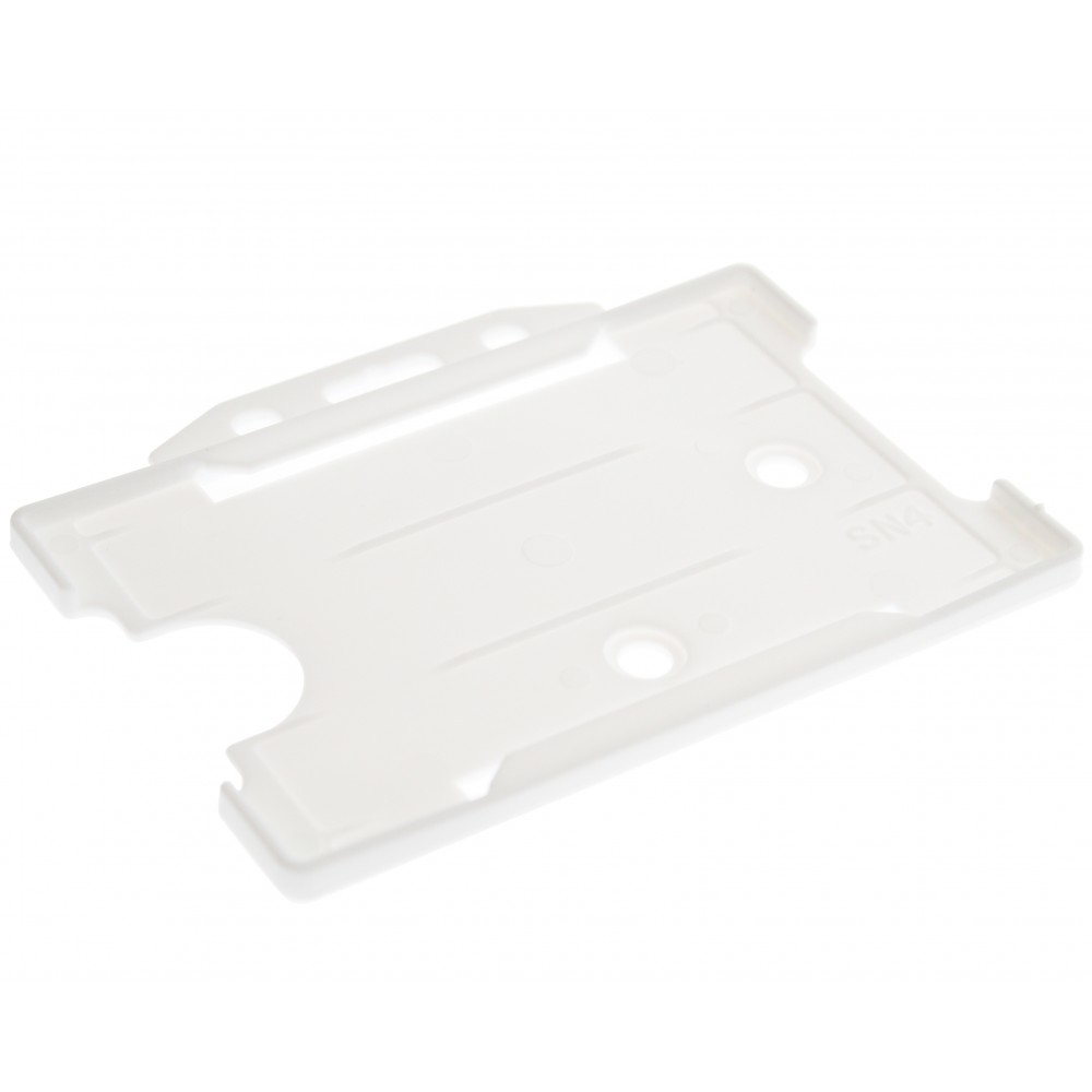 Open Faced Horizontal Badge Holders - White - 100 Pack