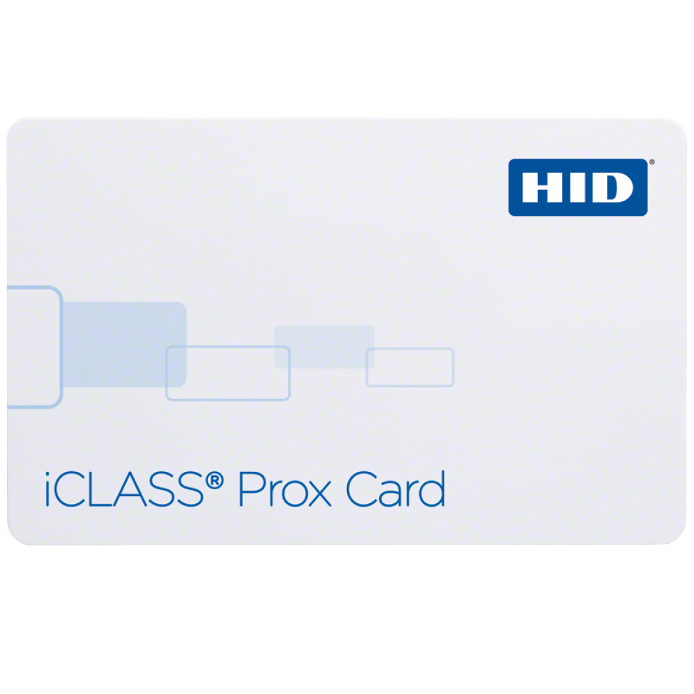iClass Prox Contactless PVC Smart Card (2k bit with 2 application areas)