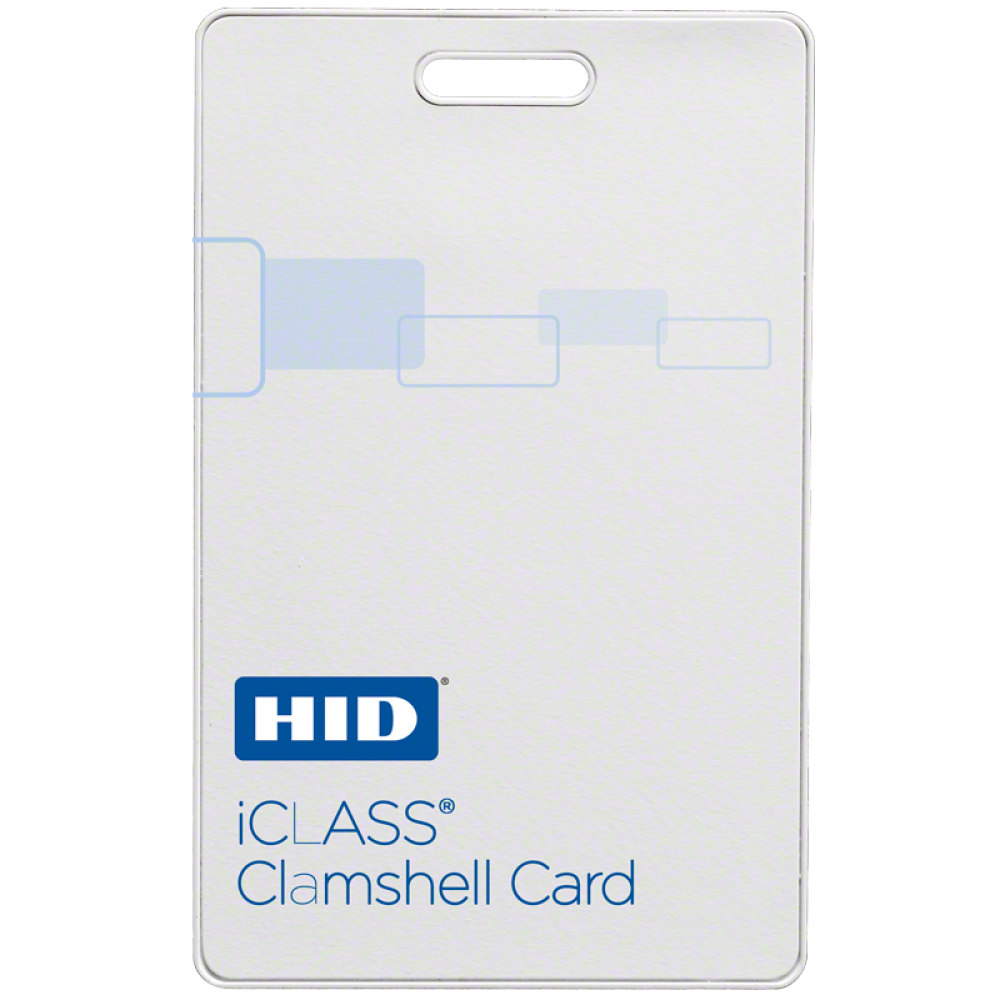 iCLASS Clamshell Contactless Smart Card (2k bit with 2 application areas)