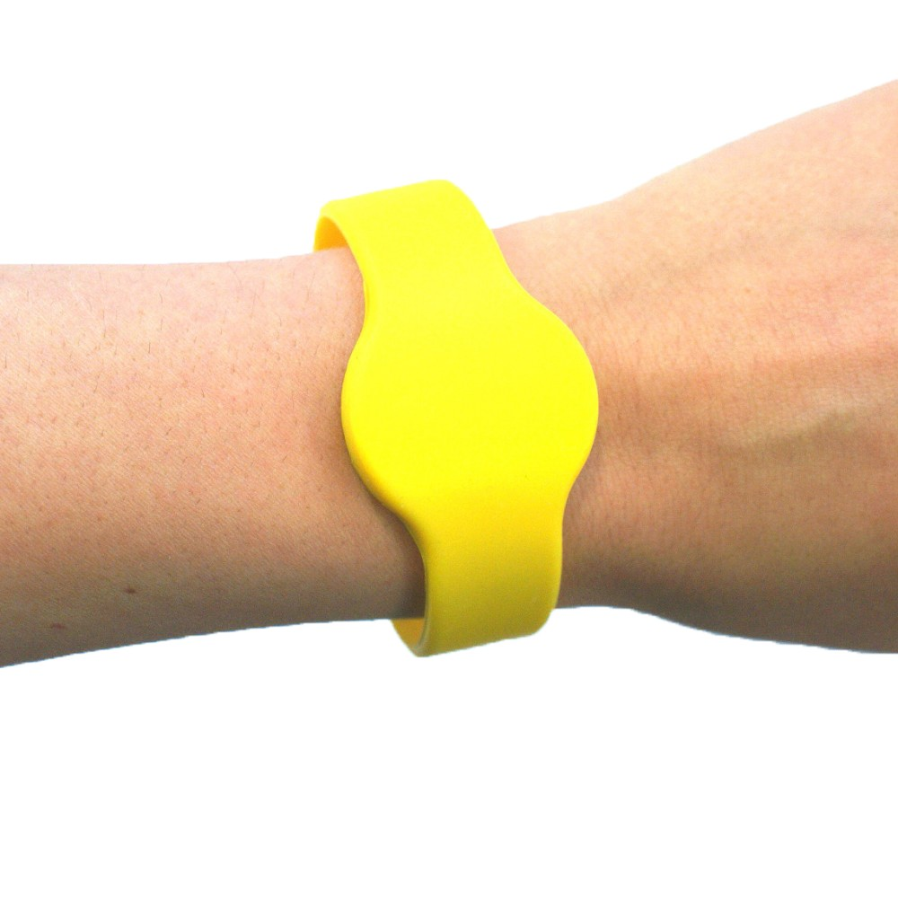 Large Silicone Yellow Wristband - EM4200