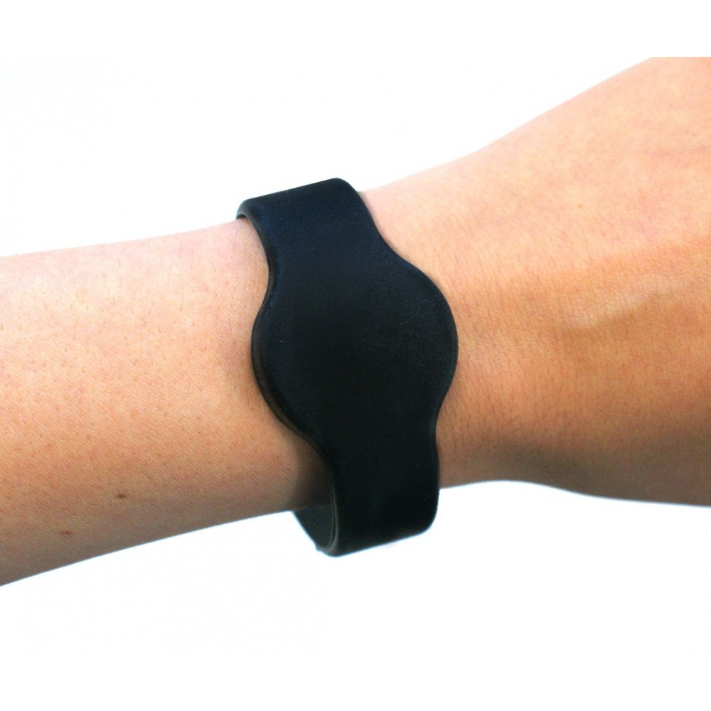Medium Silicone Black Wristband - NXP MIFARE® Ultralight EV1