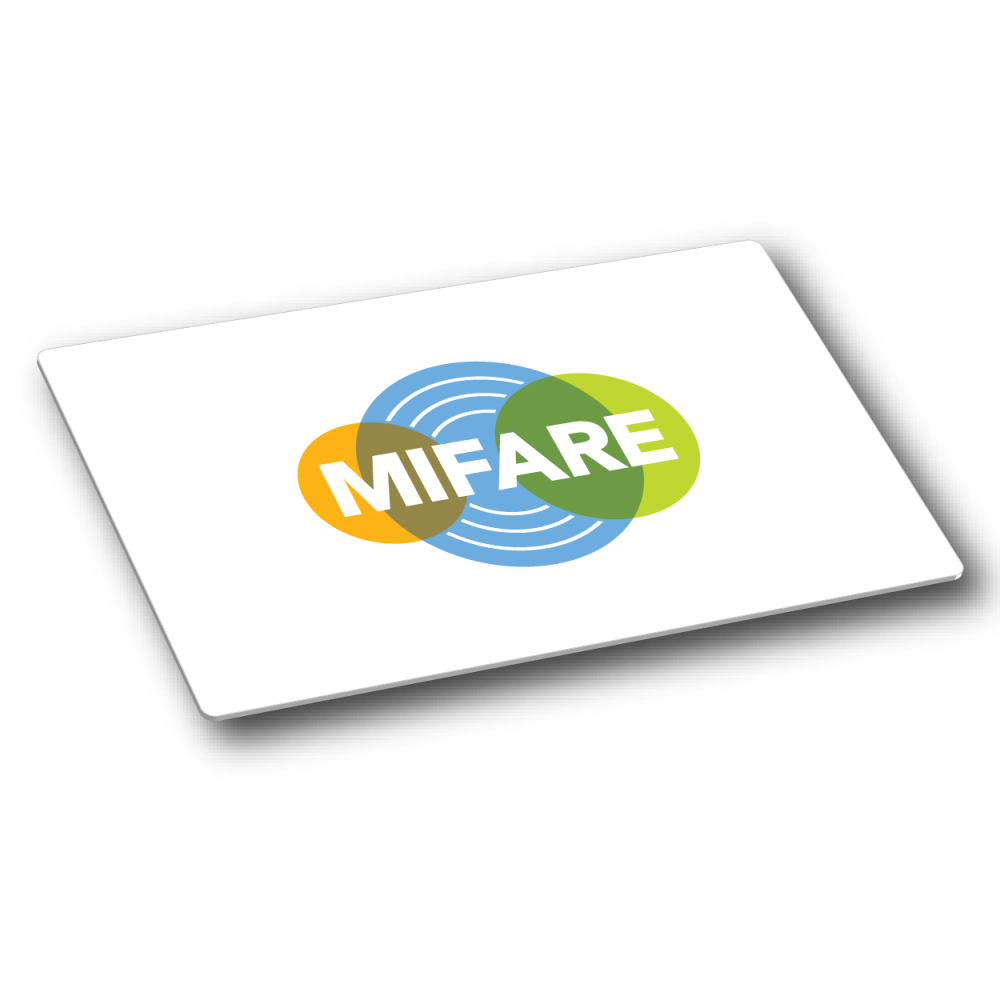 MIFARE Plus® EV1 2K, 7 Byte UID, White Gloss PVC Card