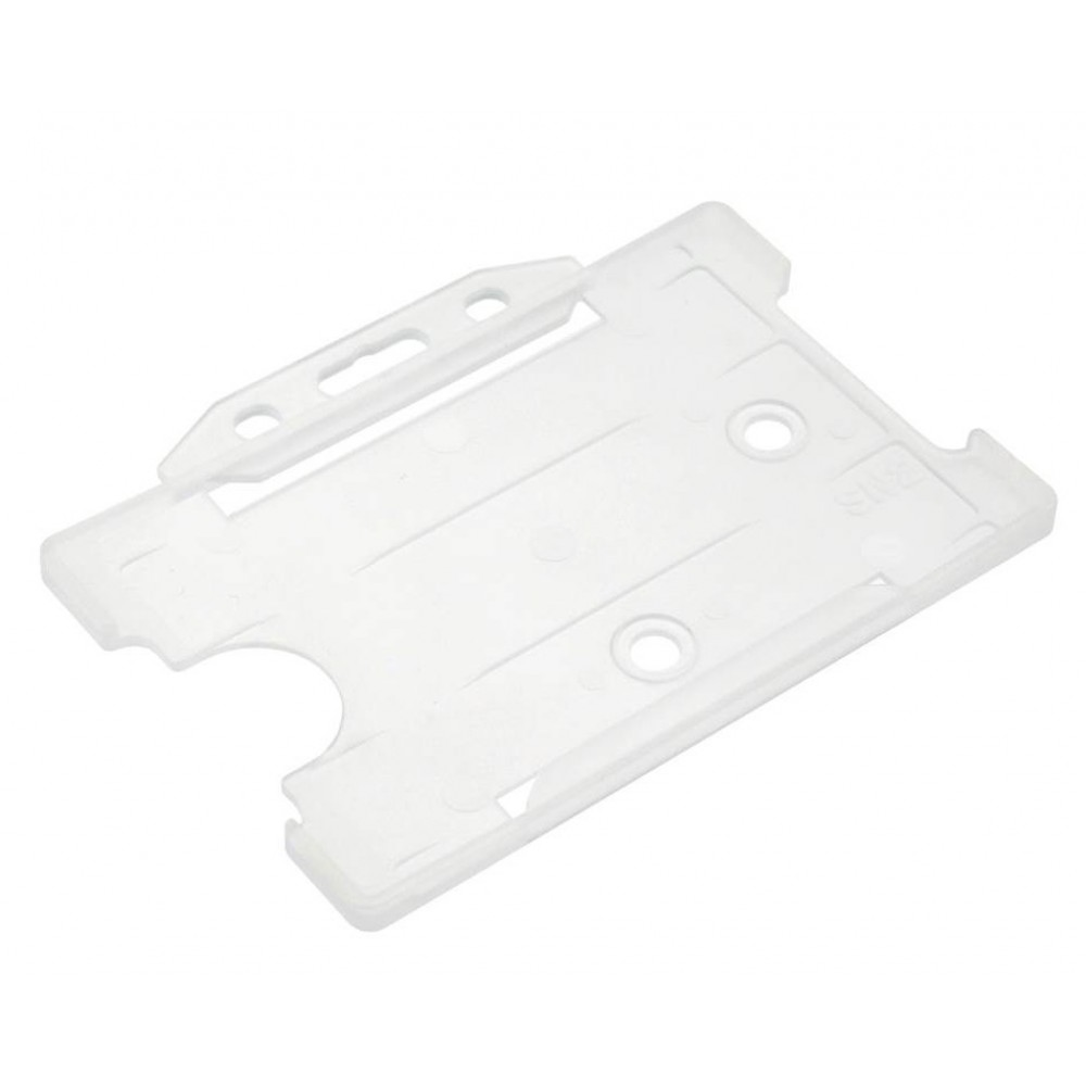 Open Faced Horizontal Badge Holders - Clear - 100 Pack
