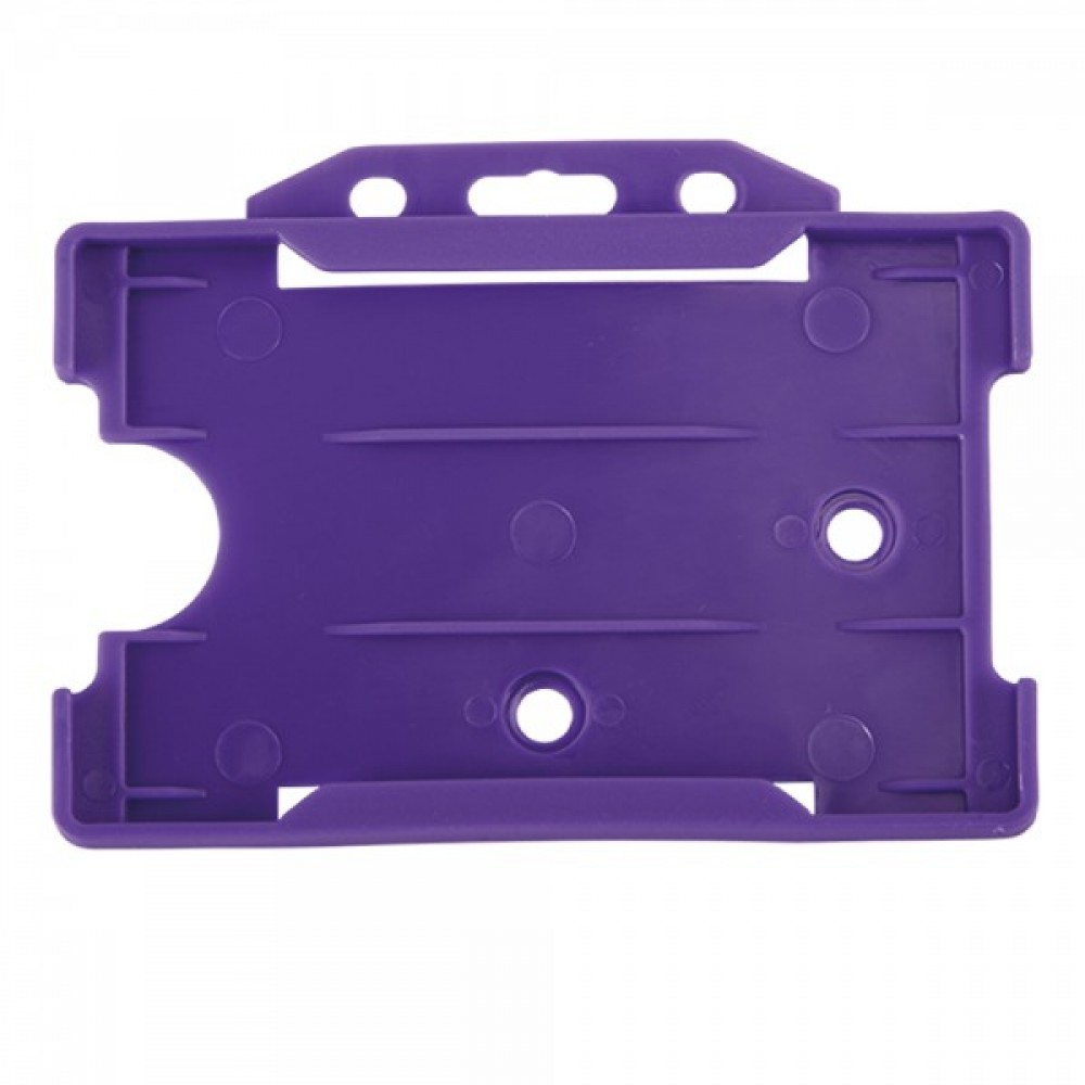 Open Faced Horizontal Badge Holders - Purple - 100 Pack