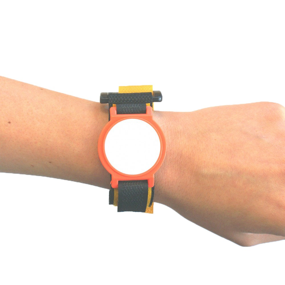 Orange Nylon Velcro Strap with White Face - MIFARE® 1K EV1
