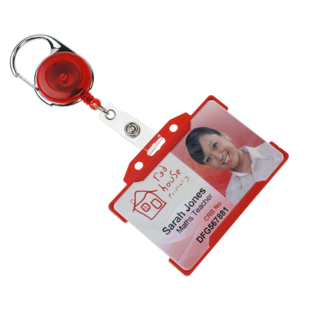 Premier Badge Reel - Red (with badge)