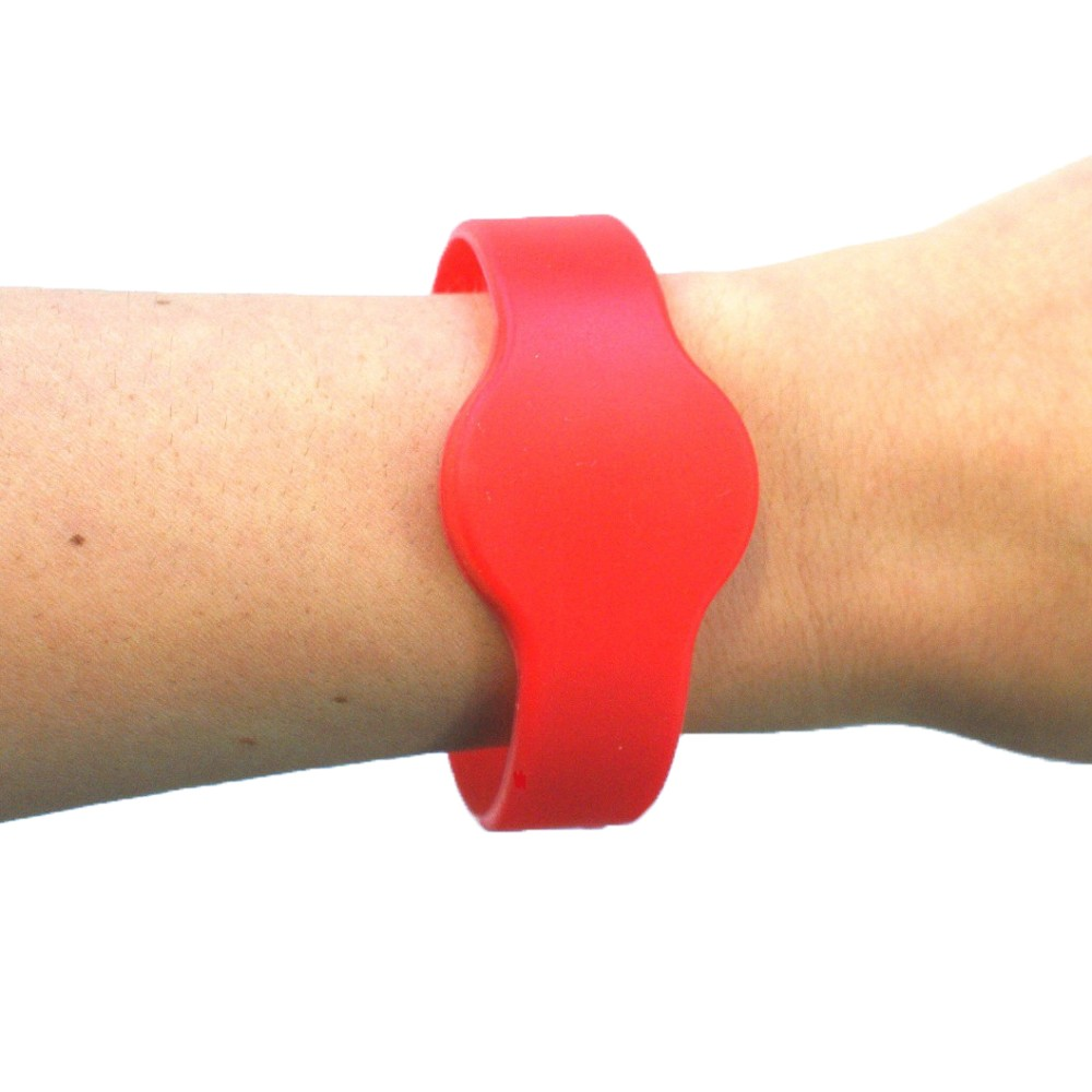 Large Silicone Red Wristband - MIFARE® 1K EV1