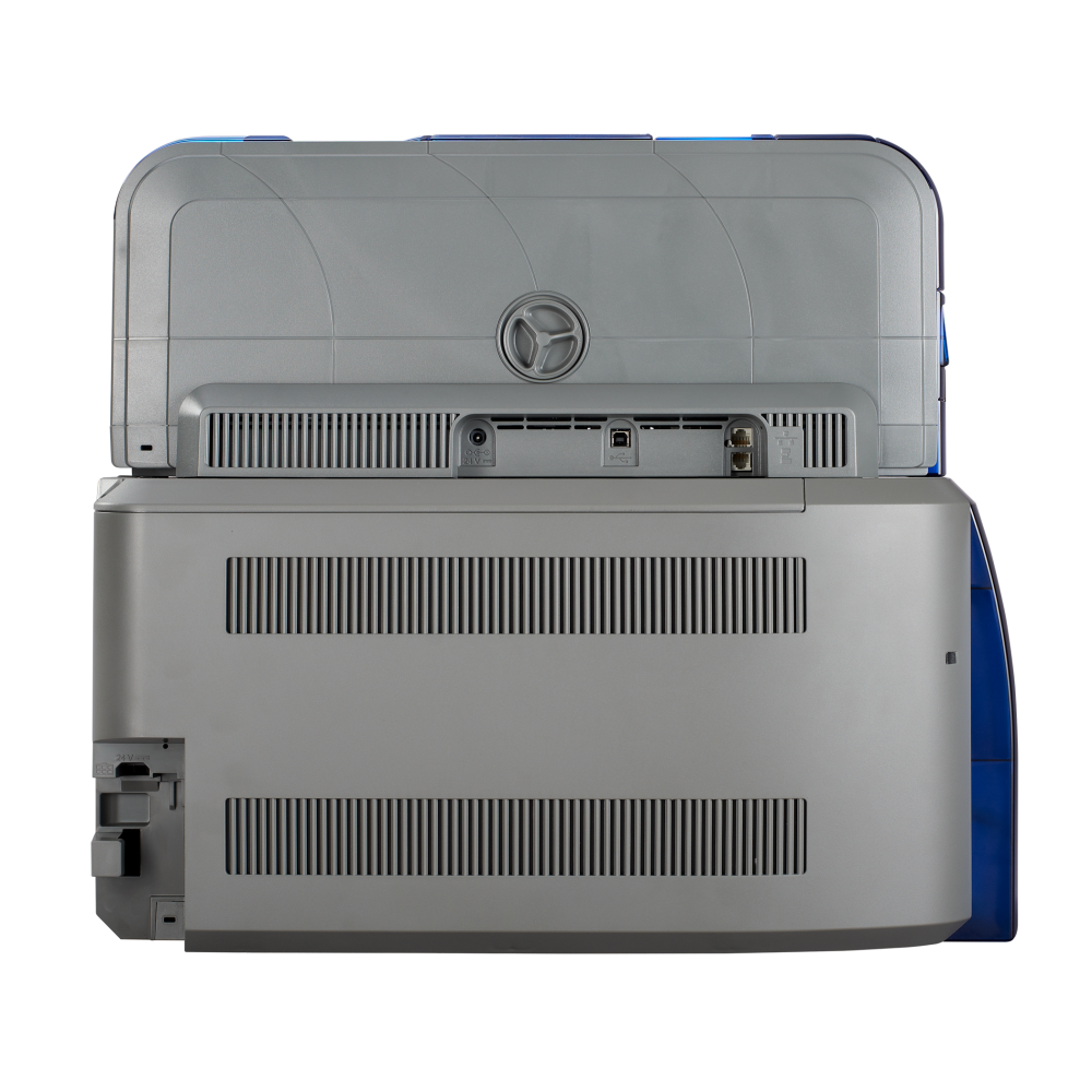 Datacard® SD460 Dual Sided Printer with Laminator - Side with Connections