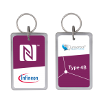 Infineon® SECORA™ Pay W - NFC Type 4 Tag Reference Fobs- Type B