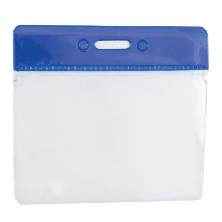 Clear Flexible Wallet - Horizontal - Blue Top
