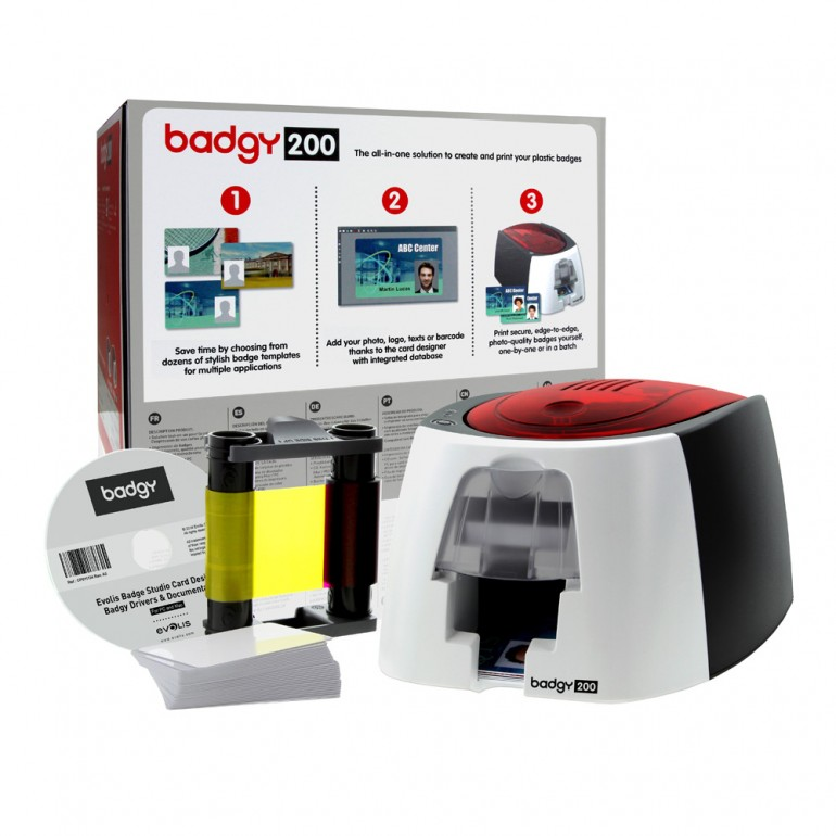 Evolis® Badgy200 (Single-Sided) Card Printer