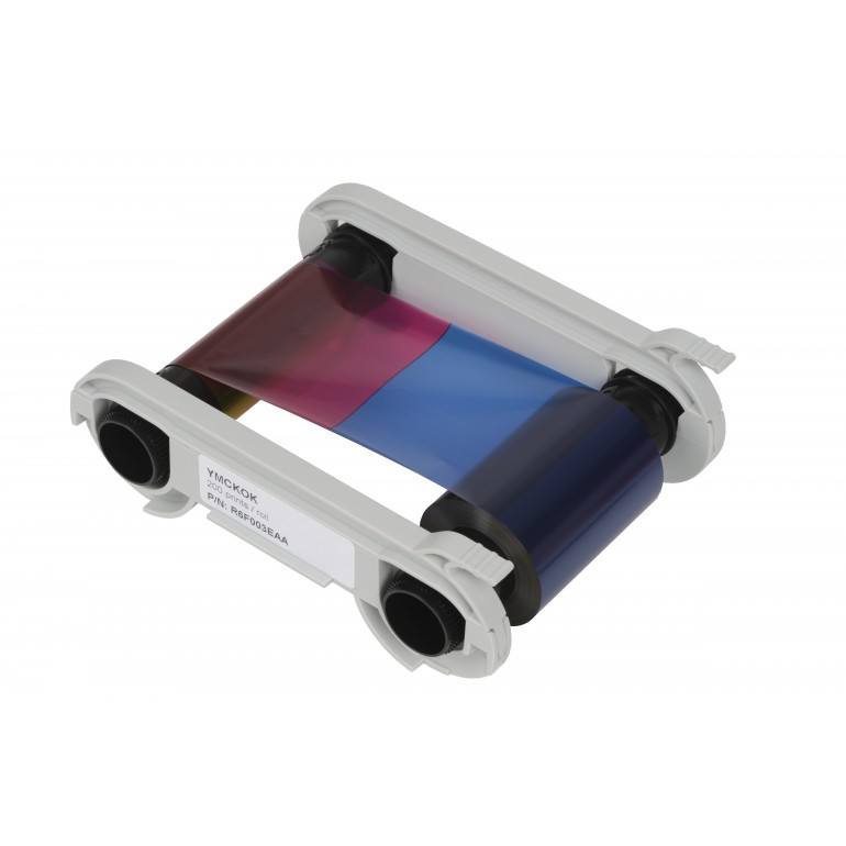 Evolis YMCKOK Colour Ribbon - 200 Images (R6F003EAA)