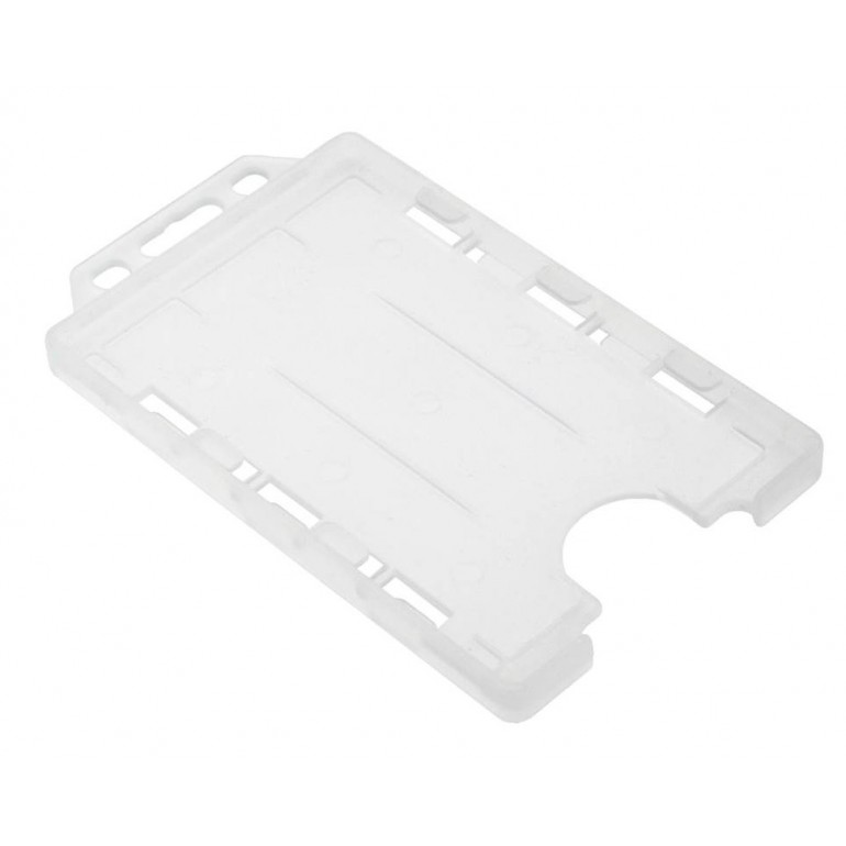 Double Sided Open Faced Vertical Badge Holders - Clear - 100 Pack