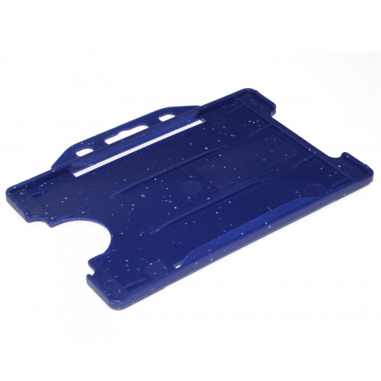Open Faced Horizontal Badge Holders - Navy Blue - 100 Pack
