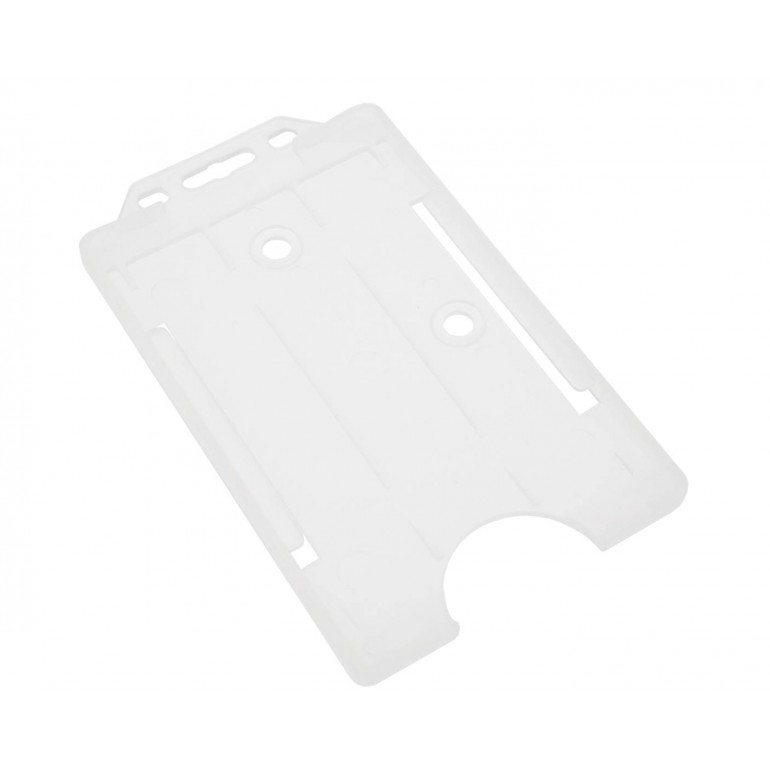 Open Faced Vertical Badge Holders - Clear - 100 Pack