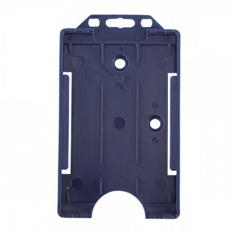 Open Faced Vertical Badge Holders - Navy Blue - 100 Pack