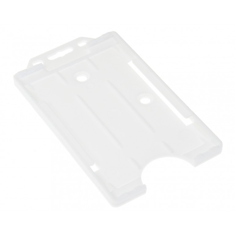 Open Faced Vertical Badge Holders - White - 100 Packv