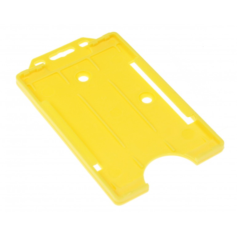 Open Faced Vertical Badge Holders - Yellow - 100 Pack