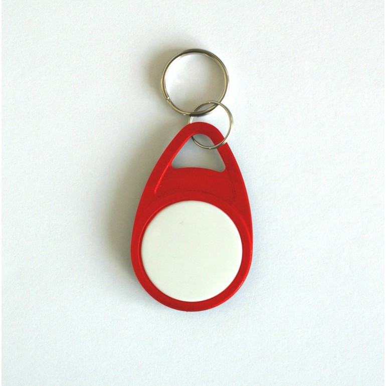 Red Tear Key Fob with White Face - MIFARE® Ultralight EV1