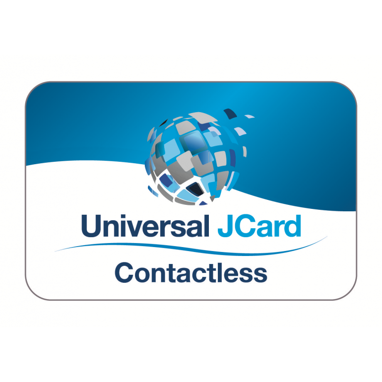Universal JCard (Contactless) White Gloss PVC Card