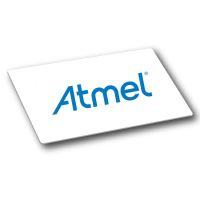 Atmel ATA5558 White Gloss PVC Card