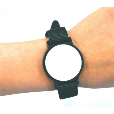 Black Nylon Watch Strap with White Face - MIFARE® 1K EV1