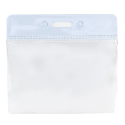 Clear Flexible Wallet - Horizontal - White Top - Pack of 100