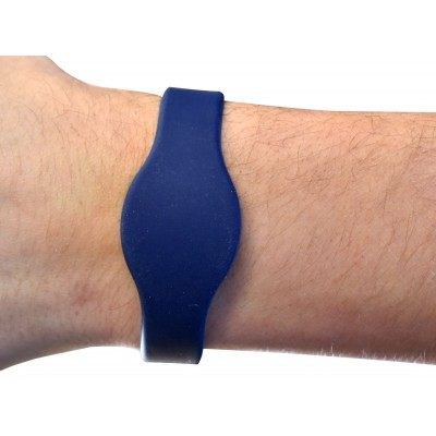 Dark Blue Mifare® EV1 1K Silicone Wristband - Medium 65mm