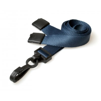 Deluxe Breakaway Safety Lanyards - Navy Blue - 100 Pack