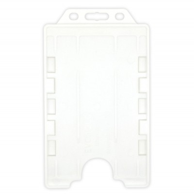 Evohold® Detectable Double Sided Portrait ID Card Holders - White - 100 Pack
