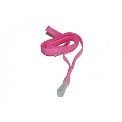 Essential Breakaway Lanyards with Plastic Clip – Pink – 100 Pack