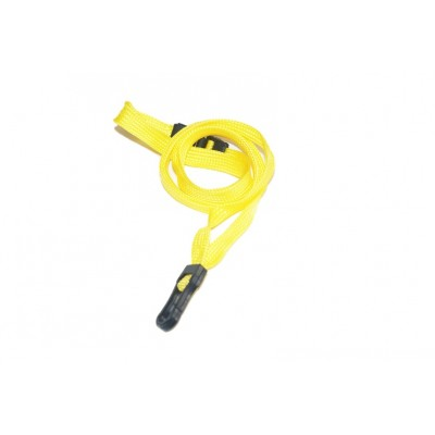Essential Breakaway Lanyards with Plastic Clip – Yellow – 100 Pack