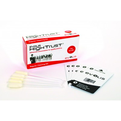 Evolis Regular Cleaning Kit - 5 Adhesive Cards & 5 Swabs (ACL001)