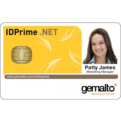 Gemalto .Net V2+ with Mifare DESFire EV1 4K White Gloss PVC Card
