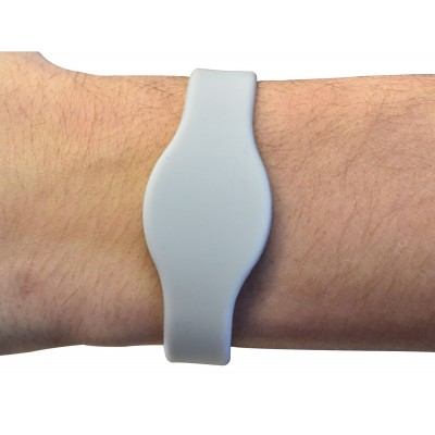 Grey MIFARE Classic® EV1 1K Silicone Wristband - Medium 65mm