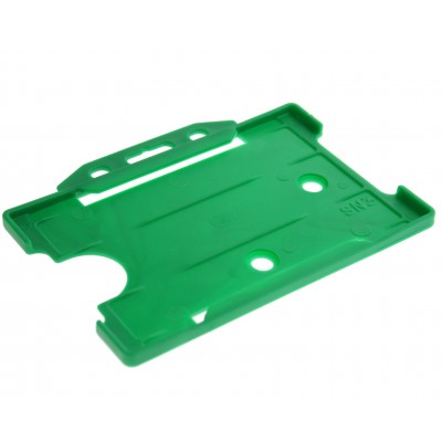 Open Faced Horizontal Badge Holders - Light Green - 100 Pack