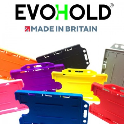 Evohold® Detectable Single Sided Portrait ID Card Holders - Clear - 100 Pack